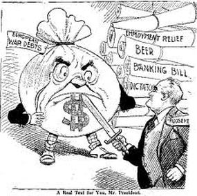 an analysis of roosevelts actions during the great depression The main causes of the great depression and great recession lie in the actions  of the federal government in the case of the great depression.